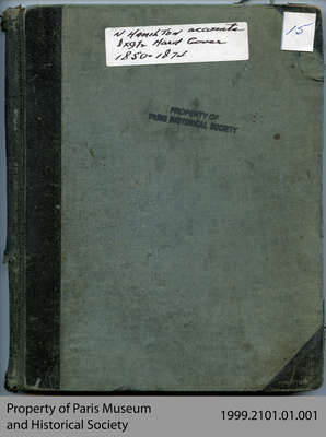 Norman Hamilton Account Book, 1850-1874