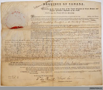 John Tufford Land Indenture, 1857