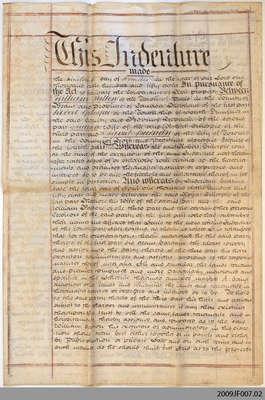 Land Indenture between William Patton and David Bucham, 1858