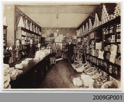 Interior of Woods & Tinknell Store, Paris, ON