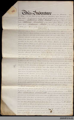 Land Indenture between Peter Grant, William Hendric, and William Allan, 1858