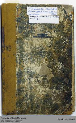 Norman Hamilton Account Book, 1834-1867