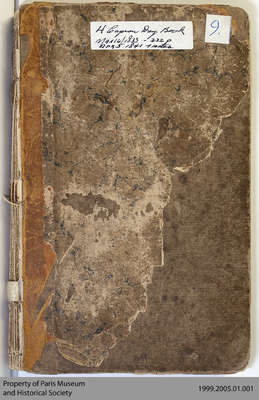 Hiram Capron Day Book Letter H (Account Book, 1833-1841)