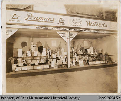 1927 Penmans Advertising Display, Ottawa