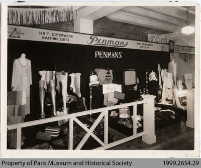 1930 Penmans Display at the National Produced in Canada Exhibition, Montreal