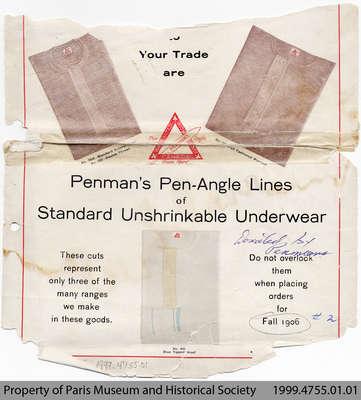 1906 Penmans Underwear Advertisement