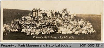Penmans No. 1 Employee Picnic, 1924