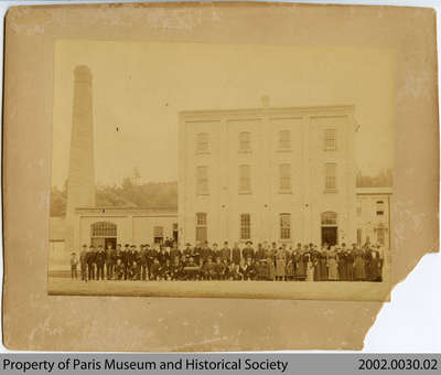 Employees outside the Penmans Willow Street Factory, early 20th century