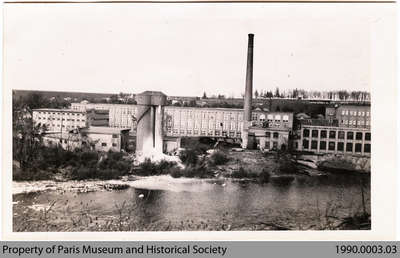 Penmans No. 2 Mill seen from Mill-Race, 1922