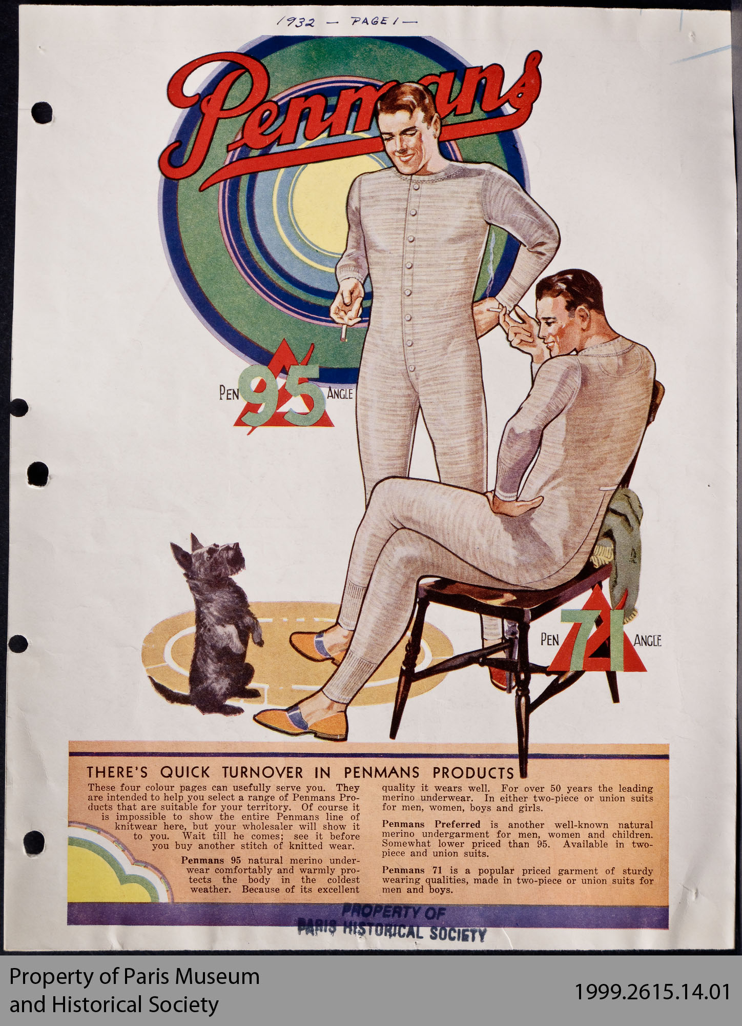 Penmans Wholesale Advertisements, 1924 - 1932