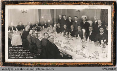 Banquet Given by Penmans to Herbert F. Rowland, Toronto, 1932