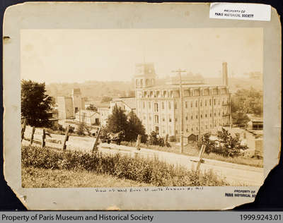 Penmans No. 1 Mill from the Broadway St. W Hill, late 19th century