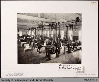 Penmans Sweater Knitting Department, #3 Mill, c. 1935