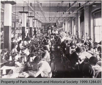 Penmans Sewing Department, #2 Mill, c. 1935