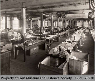 Penmans Underwear Cutting Room, #2 Mill, c. 1935
