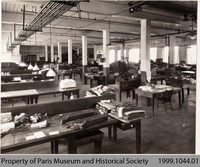 Penmans #1 Mill Hosiery Finishing Room, c. 1935?
