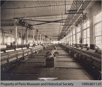 Penmans #9 Mule Spinning Department, c. 1912