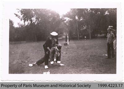 Penmans Clown at Summer Picnic, c. 1940s?