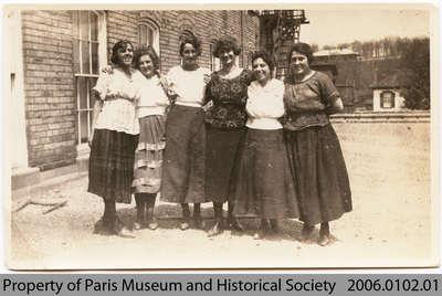 Lil McHutchion & 5 Penmans Coworkers, c. 1940s?