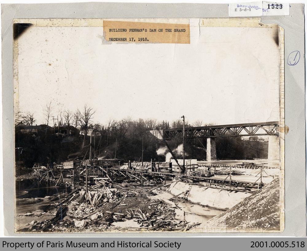 Penmans Dam under Construction, 1918