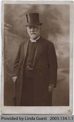 Postcard depicting the Rev. George Bryce