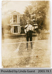 Brucefield House, Mount Pleasant, with Tennis Player