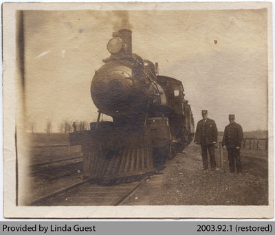 Toronto, Hamilton & Buffalo Railroad Train Waiting outside Mount Pleasant, 1908