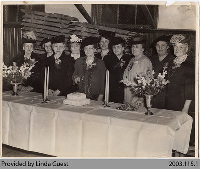 Mount Pleasant Women's Institute celebrating National 50th Anniversary, 1947