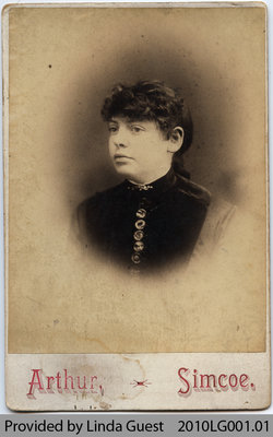 Photograph of unidentified (Mount Pleasant?) Woman