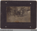Stanley & Mrs. W. Phelps on Horse-Cart, Mount Pleasant