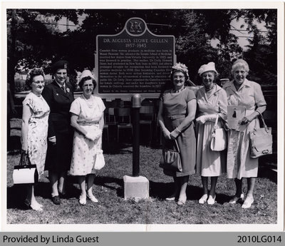 Mount Pleasant Women's Institute at Dr. Augusta Stowe Gullen Plaque, 1962