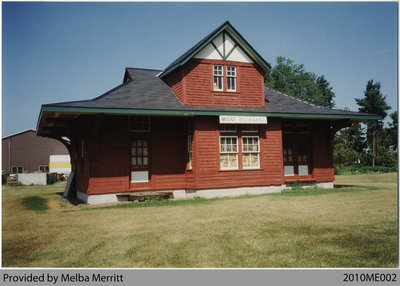 Mount Pleasant Station on Merritt Farm after Relocation, 1993