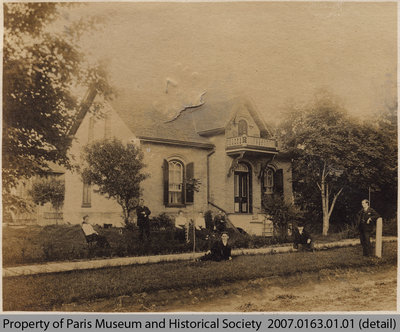 Postcard depicting 89 Willow St. House, 1906