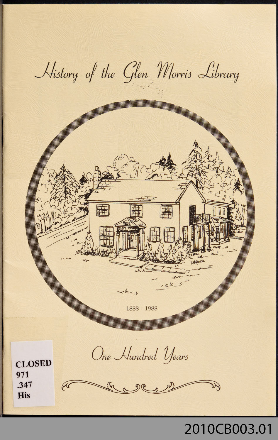 History of the Glen Morris Library: One Hundred Years