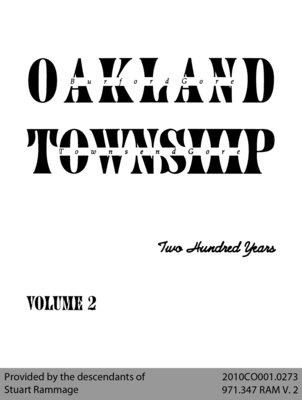 Oakland Township: Two Hundred Years - Volume 2