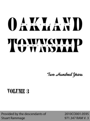Oakland Township: Two Hundred Years - Volume 3