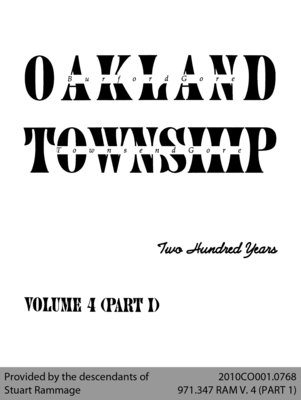 Oakland Township: Two Hundred Years - Volume 4 (Part I)