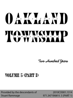 Oakland Township: Two Hundred Years - Volume 5 (Part I)