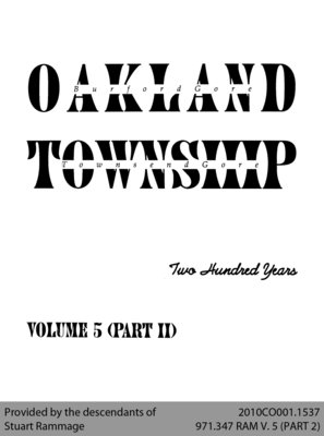 Oakland Township: Two Hundred Years - Volume 5 (Part II)