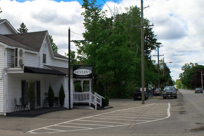 Outside Devlin's Country Bistro, 2010