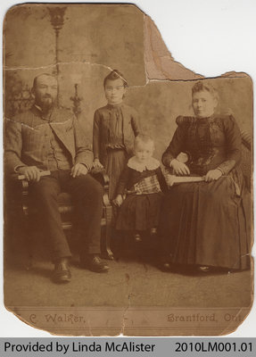 McAlister family including Albert & Ethel, from Mount Pleasant