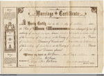 Marriage Certificate for Albert A. McAlister & Aleda Allen, 1900