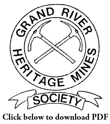 Grand River Heritage Mines Society Newsletter, April/May/June, 1999