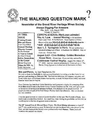 The Walking Question Mark, May/June/July/August, 2002