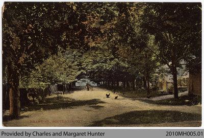 Postcard showing Brant St. near Simcoe St., Scotland, Ontario