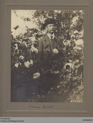 Samuel Gordon Hunter with Flowers, Scotland, Ontario