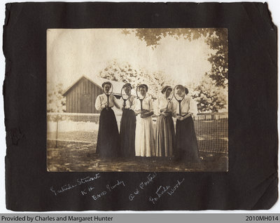 Women with Tennis Rackets, Scotland, Ontario