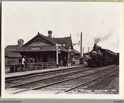 Toronto, Hamilton & Buffalo Station in Scotland, Ontario, c. early 20th century
