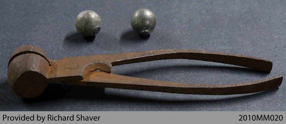 1812-era Musket Ball Mold: County of Brant Public Library