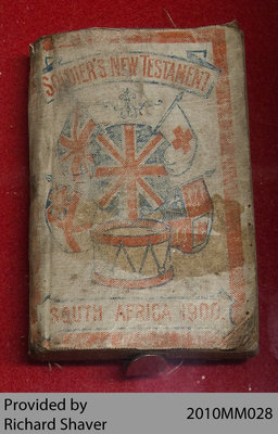 Soldier's New Testament, South Africa 1900, Boer War